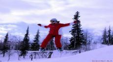 сноубордистка, полная позитива