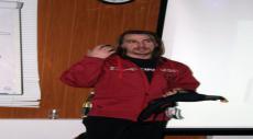 Максим Панков на лекции по лавинной безопасности