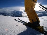 Учимся кататься на горных лыжах.